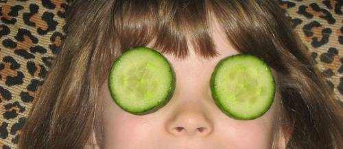 Putting Cucumbers on Your Eyes